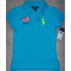 Kids Polo Ralph Lauren Polo Shirt Big Pony USA S